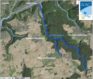 Carte de localisation de la Moulaine